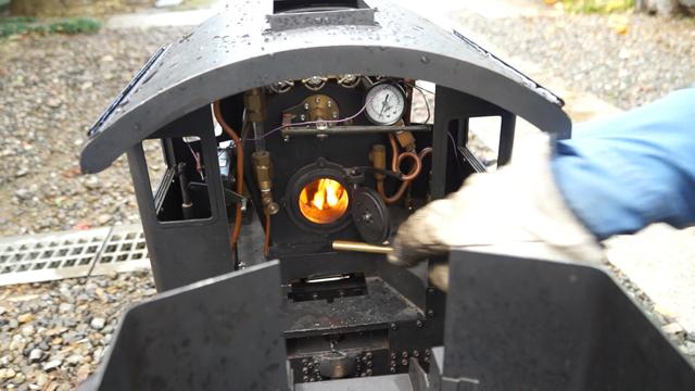 C56 初めて石炭で罐焚