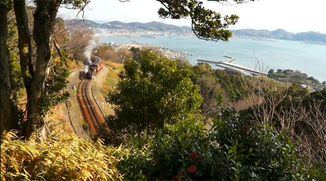 愛知こどもの国 こども汽車 風光明媚な丘を走ります