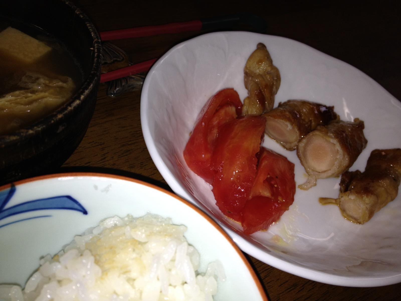 岩下の新生姜の豚バラ肉巻き照り焼きソース