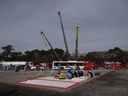 駿府城公園消防出初式-3