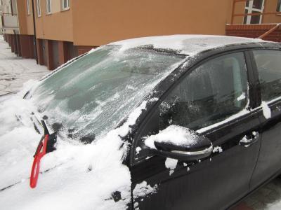 車の雪かき