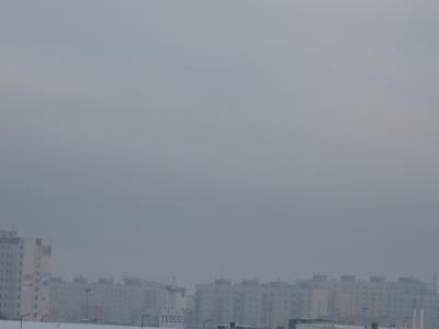ポーランドの冬の空
