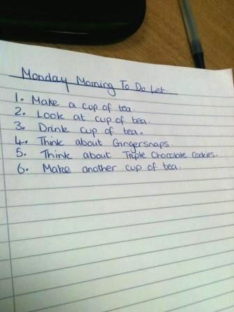 月曜to do list