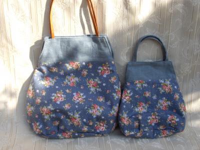 花柄 大小バッグ
