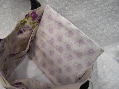四角底の布バッグ