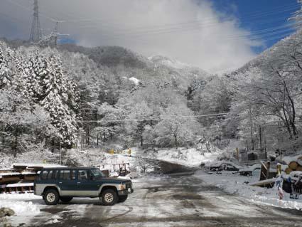 DX 初ドライブは雪道