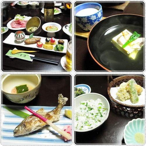 お宿での夕食~