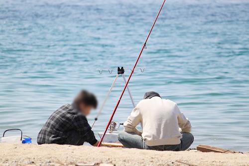パパと2号は釣り