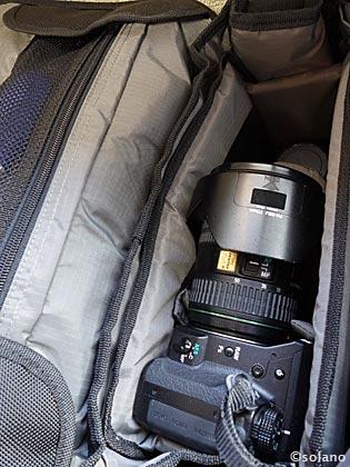 テンバP415、内部カメラ・レンズ収納スペース
