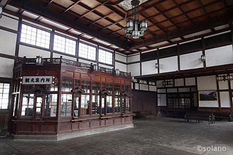 大社駅駅舎、待合室と旧出札口