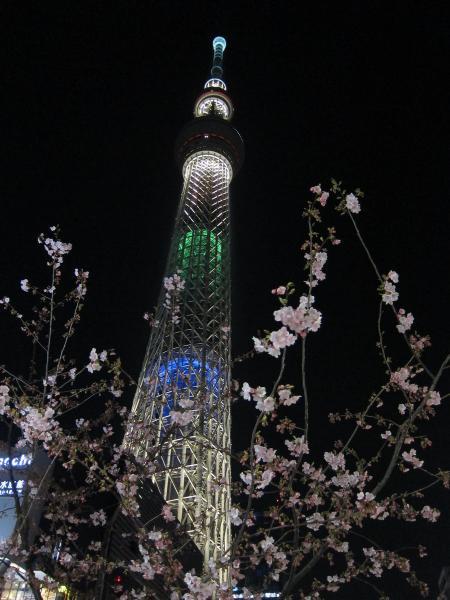 東京スカイツリー・ライトアップ24〔フリー写真〕