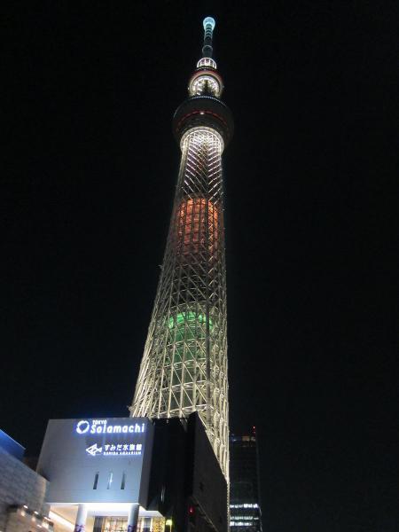 東京スカイツリー・ライトアップ26〔フリー写真〕