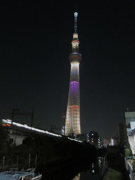 東京スカイツリー・ライトアップ27〔フリー写真〕