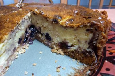 ココアブルベリーチーズケーキ