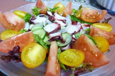 蛸とトマトのサラダ