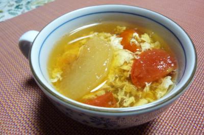 冬瓜とトマトの卵スープ