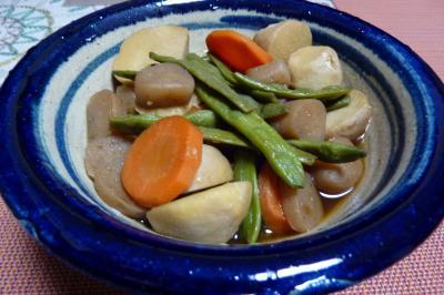 里芋と豆の煮物