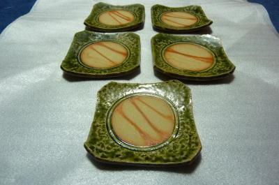 織部の銘々皿