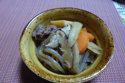 きんぴら牛肉と根菜の