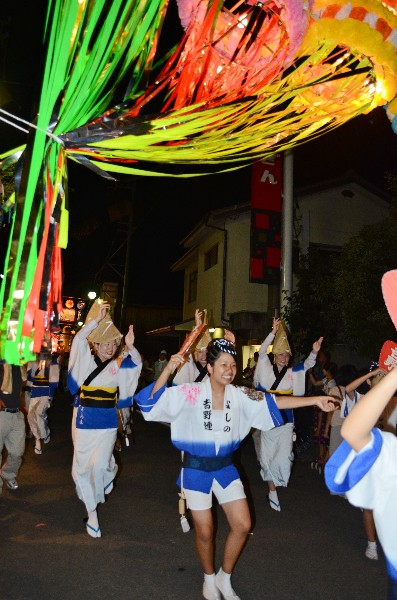 西条市丹原町 夏祭り2012 阿波踊り 吉野連