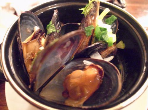 ムール貝のキャセロール蒸しビール煮