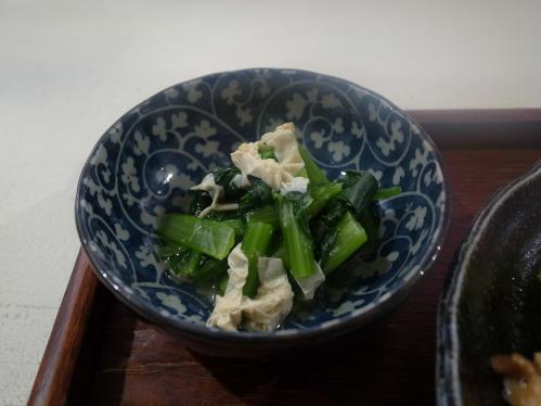 湯葉と青菜