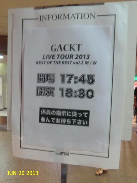 GACKTライブ20130620②
