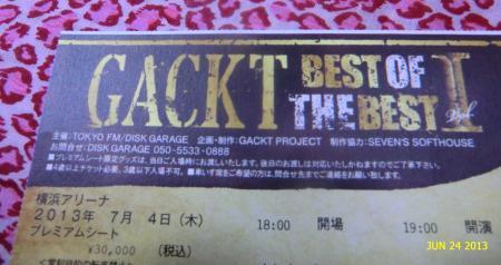 GACKT2013Pチケット