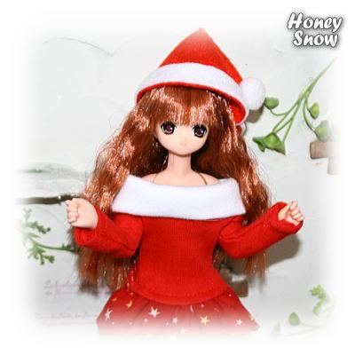 1/6DOLL 【オフショルダーワンピ】クリスマスver、えっくすきゅーと、L胸、爆乳OK!!