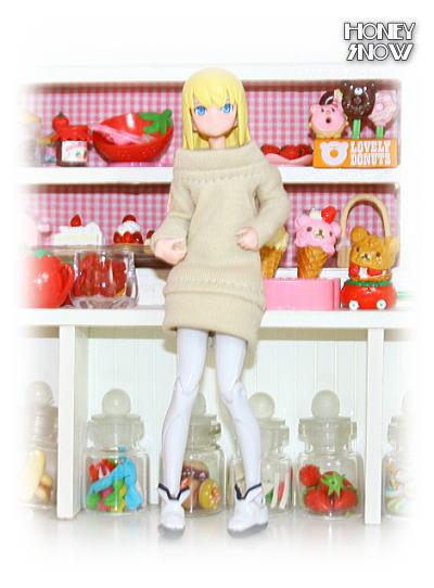 1/12DOLL 【ニットワンピ】 武装神姫、figma、リボルテック、オビツ11、ピコニーモ