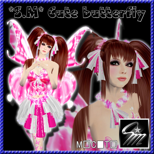 Cute butterfly_pink