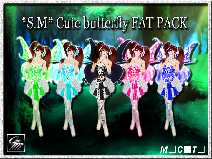 Cute butterfly FAT PACK720