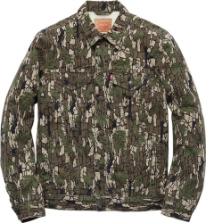 Levi's® × Supreme Sherling Lined Camouflage Canvas Trucker Jacket
