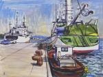 三崎漁港のトロール船