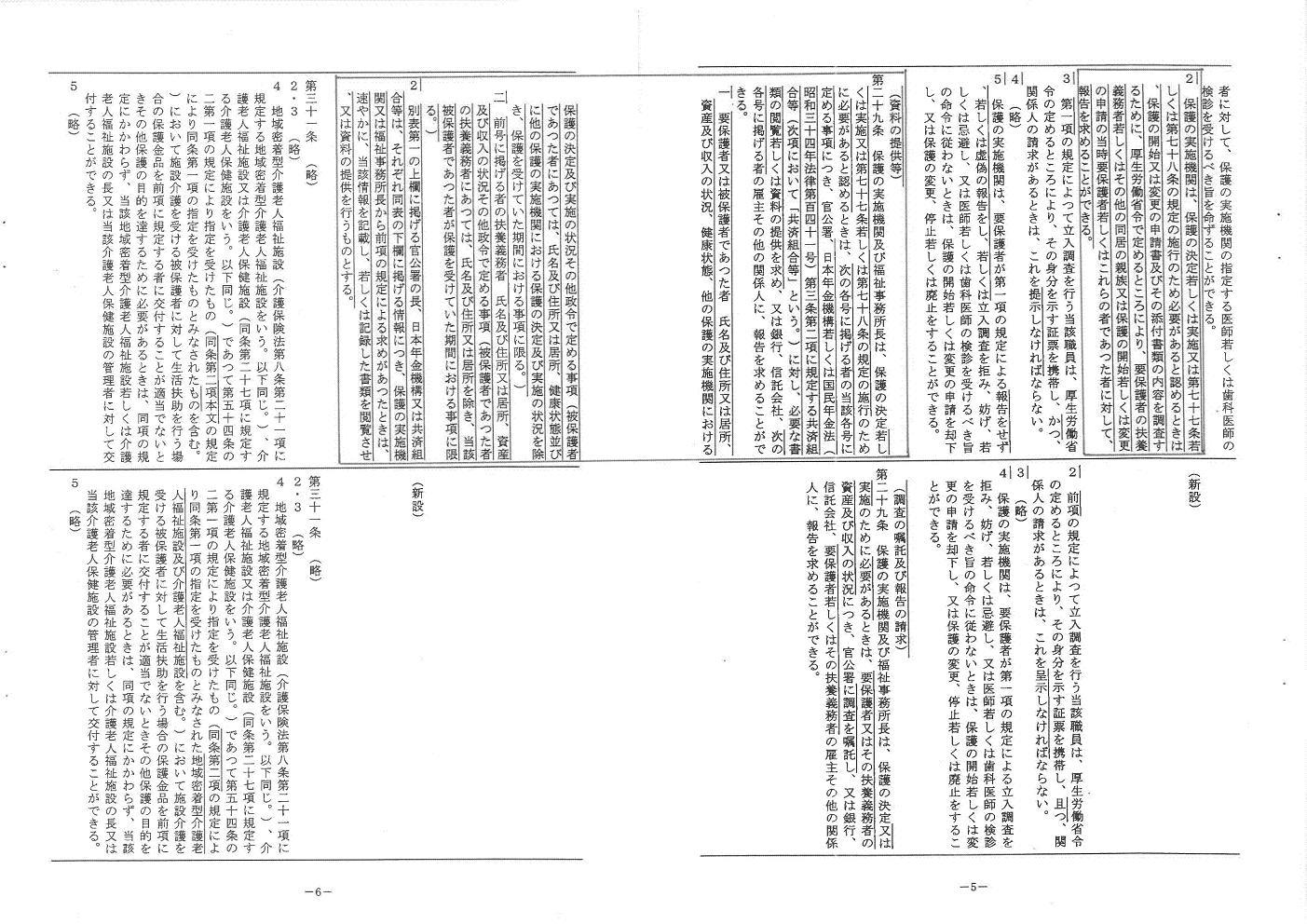 生活保護法改正法案対照表③