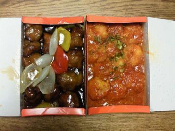 酢豚&海老チリ