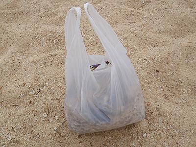 西原のビーチのお持ち帰り砂