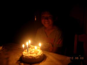 9才のケーキ②