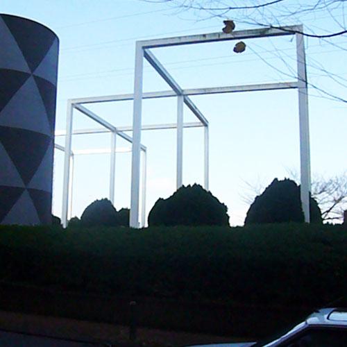 換気塔とオブジェ