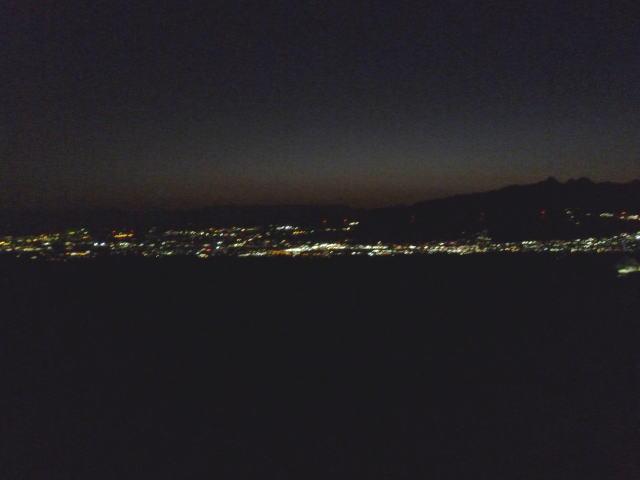 赤城山の夜景