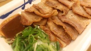 松屋、味噌漬け豚バラ焼定食3