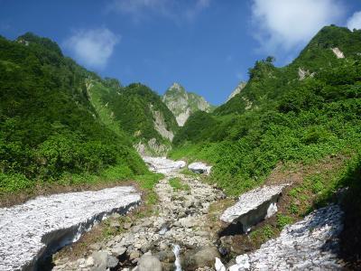荒菅沢から見る雨飾山