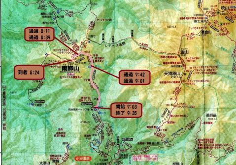 雨飾山登山コース