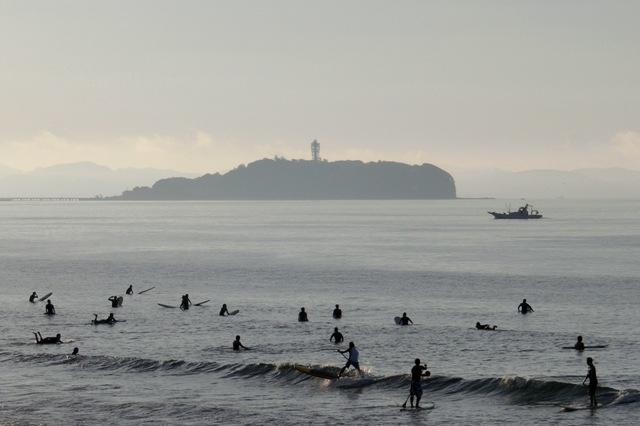 朝の湘南海岸