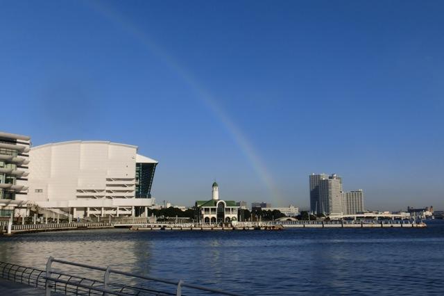 ぷかり桟橋と虹