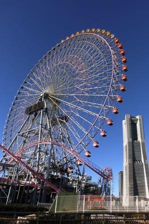 快晴の横浜コスモクロック