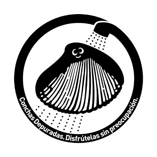 貝 UV殺菌 ロゴ concha depurada