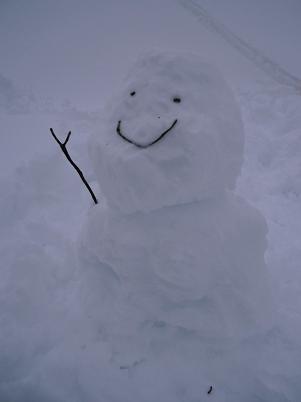 笑顔にこだわった雪だるま