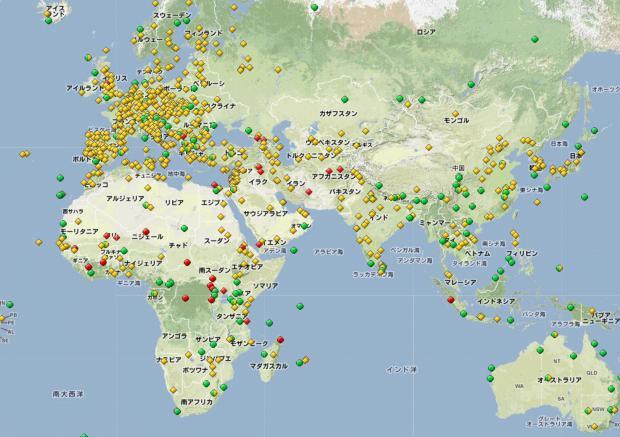 世界遺産分布図その1