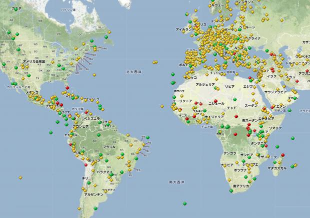 世界遺産分布図その2